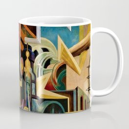 Classical Masterpiece 'Instruments of Power - Train, Airplane, Steam by Thomas Hart Benton Coffee Mug