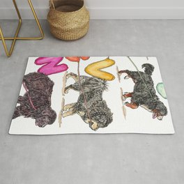 Dogs with Balloons Rug
