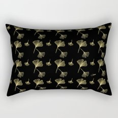 Ginkgo Black Gold Rectangular Pillow