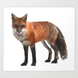 Triangular red fox Art Print
