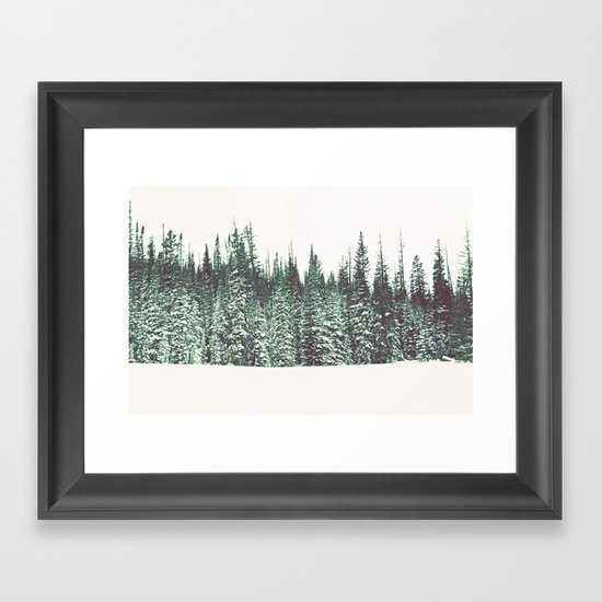 Snow on the Pines Framed Art Print
