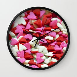 Valentine Hearts Wall Clock