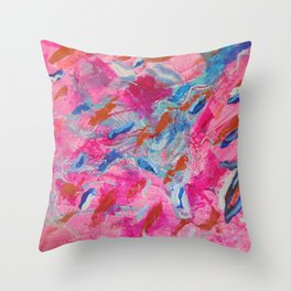 Flowing Feathers by Aeva Meijer Throw Pillow