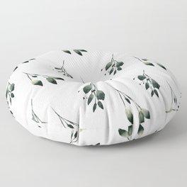 Winter Leaf Pattern Floor Pillow