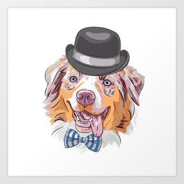 Australian Shepherd For Dog Lovers Art Print