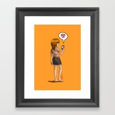 No Signal Framed Art Print