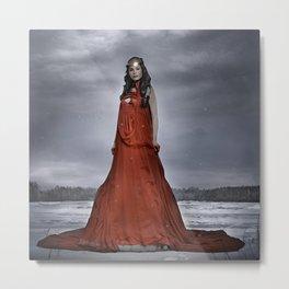 red winter queen Metal Print