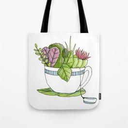 Succulent Tea Tote Bag