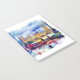 London Rain watercolor Notebook