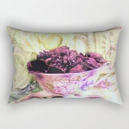 Teacups and Roses 5 Rectangular Pillow