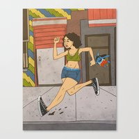 broad city Canvas Prints featuring Broad City by Theodore Taylor III