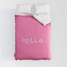 hello 3- pink Comforters