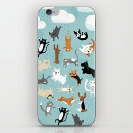 Raining Cats & Dogs iPhone Skin