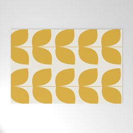 Mid Century Modern Leaves Yellow #society6 #buyart  Welcome Mat