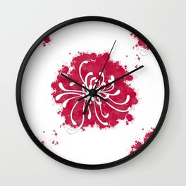Chrysanthemum Wall Clock