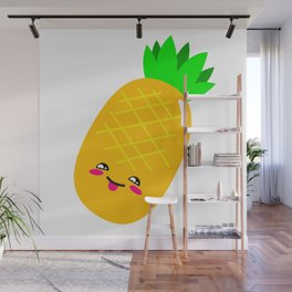 Animated Pineapple Wall Mural