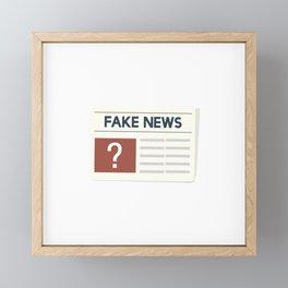 Fake News Framed Mini Art Print