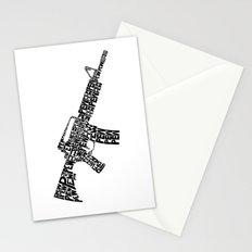 Pew Pew AR-15 Stationery Cards