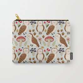 Woodland Owls Pattern Carry-All Pouch