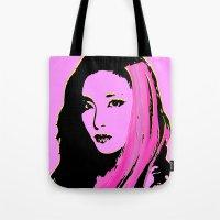 2ne1 Tote Bags featuring Sandara Park (Dara - 2NE1) by Hileeery
