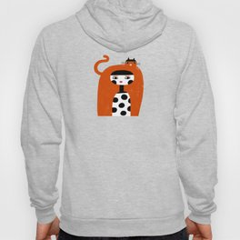 ORANGE LONG HAIR Hoody