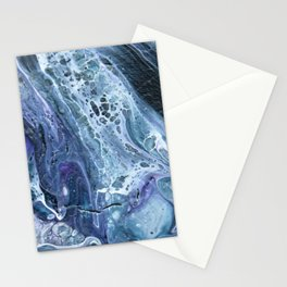 Waves - Original Abstract Acrylic Pour Painting Art Stationery Cards