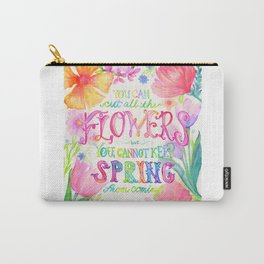 Flowers & Spring Carry-All Pouch