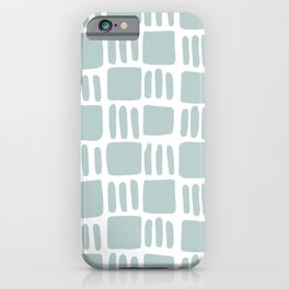 Abstract squares - blue gray iPhone Case