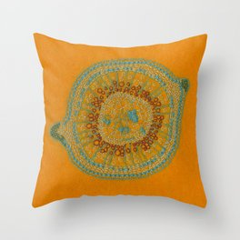 Growing - hypericum - plant cell embroidery Throw Pillow
