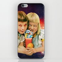 cocktail iPhone & iPod Skins featuring Exoplanet Cocktail by Eugenia Loli