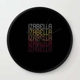 Izabella Name Gift Personalized First Name Wall Clock