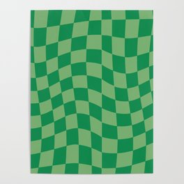 WarpCheck Money Green Poster