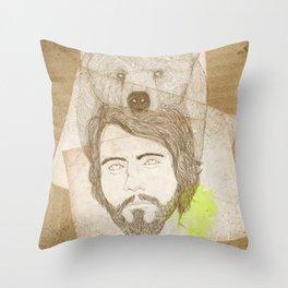 mr.bear-d Throw Pillow