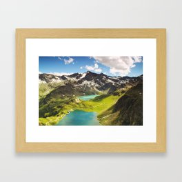 Italian Landscape Mountains and Lake Framed Art Print
