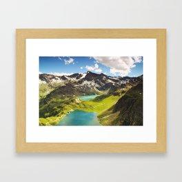 Italian Landscape Mountains and Lake Framed Art Print