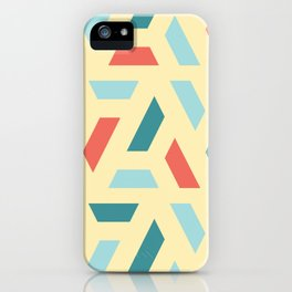 Modern Coloured Pattern iPhone Case