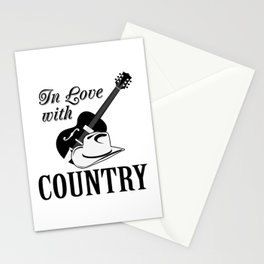 In love with country Stationery Cards