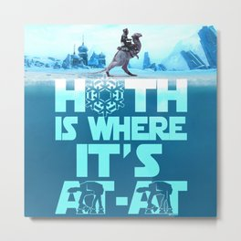 Hoth is Where it's At-At Metal Print