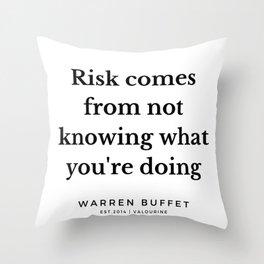 7     Warren Buffett Quotes   190823 Throw Pillow