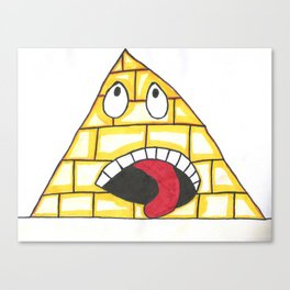 Pyramid wail Canvas Print