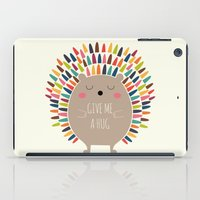 hug iPad Cases featuring Give Me A Hug by Andy Westface