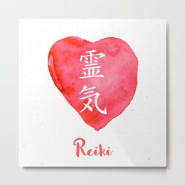 Sacred geometry. Reiki symbol. The word Reiki is made up of two Japanese words, Rei means 'Universal Metal Print