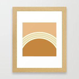one day –earthen clay layers 2 Framed Art Print
