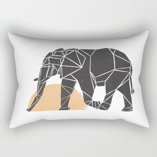 Geometric Elephant Rectangular Pillow