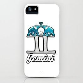 Gemini Elephant Twins iPhone Case