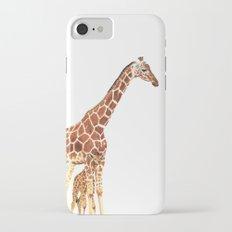Giraffe Art - A Mother's Love - By Sharon Cummings iPhone 7 Slim Case
