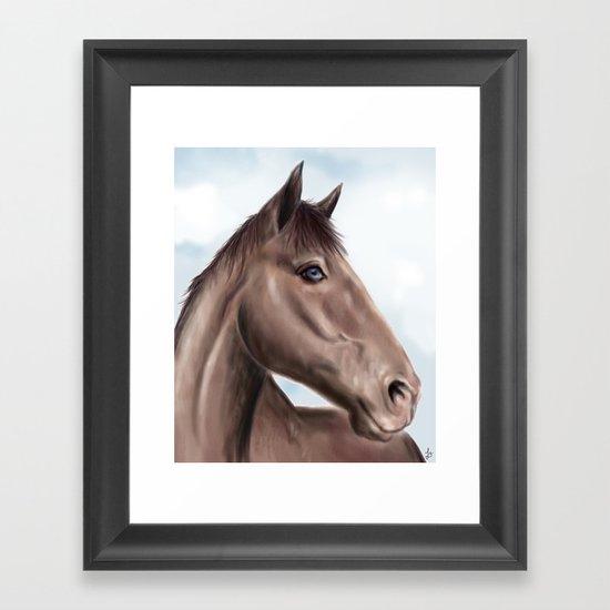 Brown horse Framed Art Print