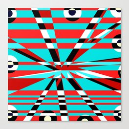 Grid Square TV Crazy Canvas Print