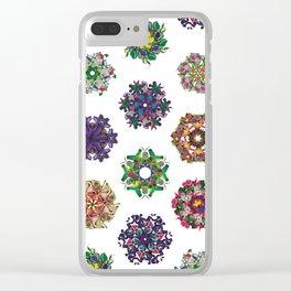 Swirls 0-9 Clear iPhone Case