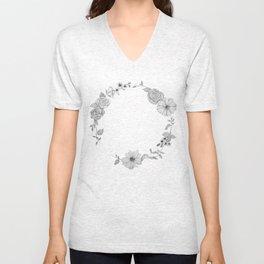 A circle of flowers Unisex V-Neck